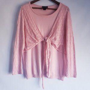 Lane Bryant Pink knit top